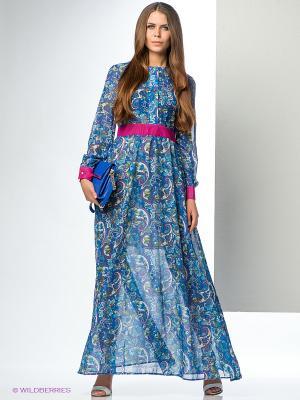 Платье ELENA FEDEL. Цвет: синий, фуксия