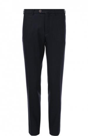 Шерстяные брюки прямого кроя Sartoria Tramarossa. Цвет: темно-синий
