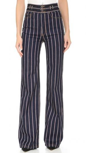 Широкие джинсы-скинни Star Marc Jacobs. Цвет: красный/белый/цвет индиго