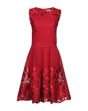 Платье до колена MAJE. Цвет: красно-коричневый