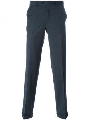Классические брюки в клетку Brioni. Цвет: синий