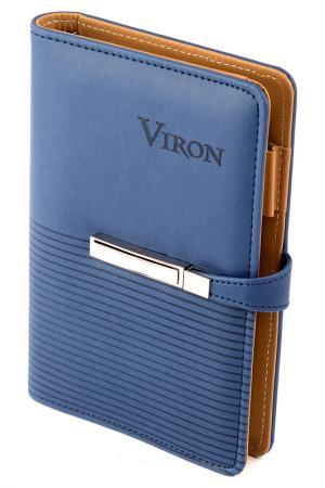 Ежедневник 19x13 см 80 листов VIRON. Цвет: коричневый, синий