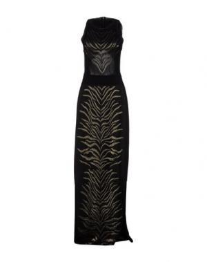 Длинное платье ROBERTO CAVALLI. Цвет: черный