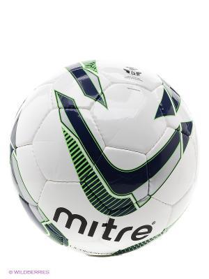 Мяч футбольный MITRE ULTIMATCH. Цвет: темно-синий, салатовый, серебристый, белый