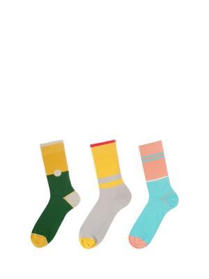 Носки Sammy Icon. Цвет: зеленый, желтый, серый