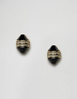 House of Harlow Серьги с камнями. Цвет: золотой