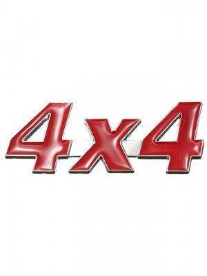 Наклейка 3D 4х4 Racing WIIIX. Цвет: красный