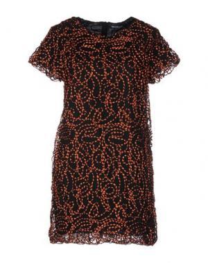 Короткое платье NINEMINUTES. Цвет: ржаво-коричневый