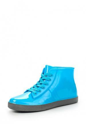 Резиновые ботинки Keddo. Цвет: голубой