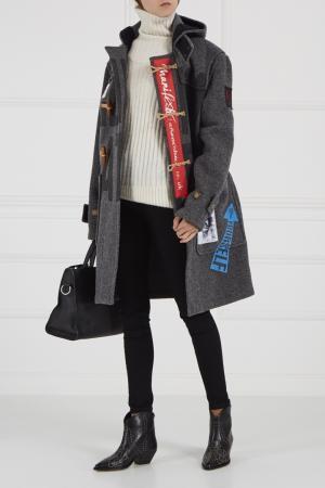 Шерстяное пальто-дафлкот Vivienne Westwood Anglomania. Цвет: серый
