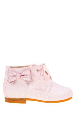 Ботинки с глиттером il Gufo. Цвет: розовый