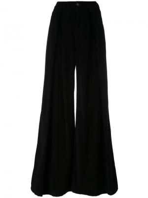 Широкие брюки A.F.Vandevorst. Цвет: чёрный