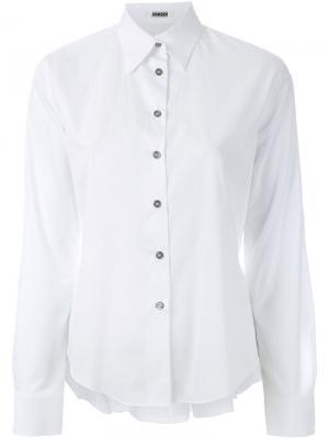 Укороченная рубашка с оборкой Jourden. Цвет: белый