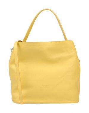 Сумка через плечо GIUDI. Цвет: желтый