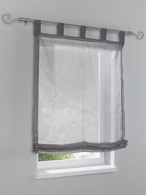 Римская штора Otto. Цвет: серый