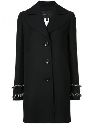 Пиджак на пуговицах с бахромой манжетах Derek Lam. Цвет: чёрный