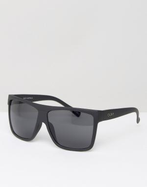 Quay Eyewear Квадратные солнцезащитные очки Australia Barnun. Цвет: черный