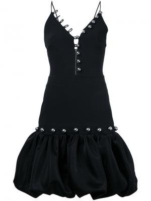 Платье с пышной юбкой David Koma. Цвет: чёрный
