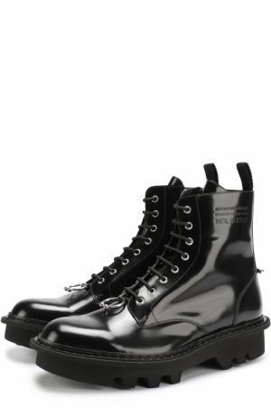 Кожаные ботинки с декоративной отделкой Neil Barrett. Цвет: черный