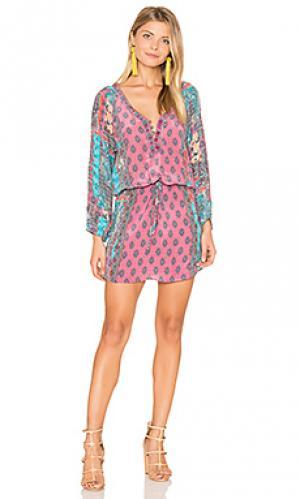Платье summer Tolani. Цвет: розовый