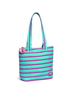 Сумка Premium Tote/Beach Bag, цвет голубой/салатовый ZIPIT. Цвет: голубой, салатовый