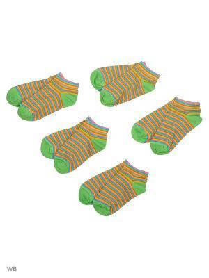 Носки 5 пар Тульский трикотаж. Цвет: зеленый, оранжевый, желтый