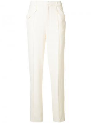 Зауженные брюки строгого кроя Sally Lapointe. Цвет: белый