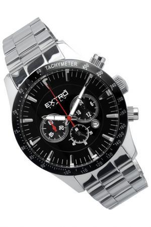 Наручные часы Extro. Цвет: black and silver