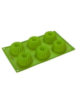 Форма для кекса Regent inox. Цвет: зеленый