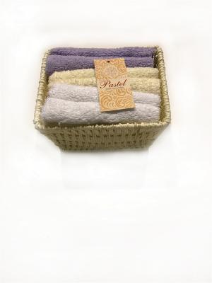 Набор салфеток 6 предметов 30х30 в корзинке Exclusive. La Pastel. Цвет: белый,сиреневый,молочный