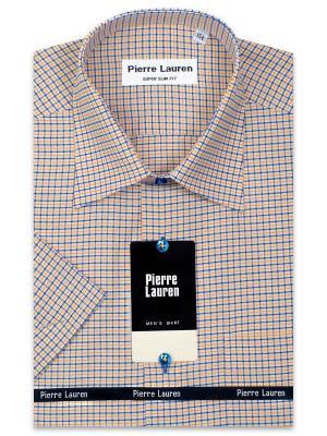 Рубашка Pierre Lauren. Цвет: синий, желтый