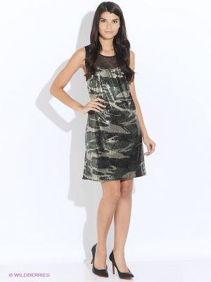 Платье GUESS. Цвет: хаки
