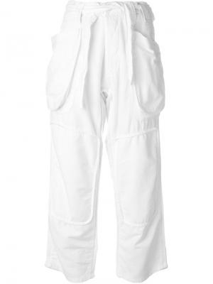 Брюки с накладными карманами Nlst. Цвет: белый