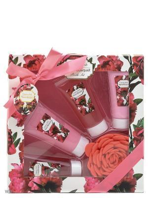Под набор Fleurs Bouquet 5 пред.(гель д/д60+ л-он60 + пена60 скраб60+мочалка) Country Fresh. Цвет: кремовый