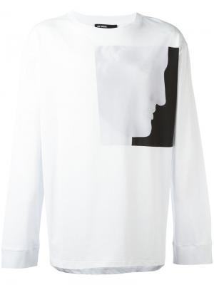 Кофта с длинными рукавами Raf Simons. Цвет: белый