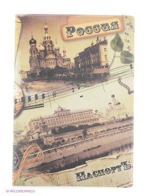Обложка для паспорта Россия Ретро А М Дизайн. Цвет: коричневый