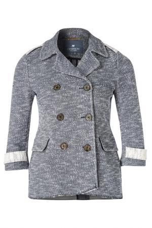 Пальто Gryphon. Цвет: серый