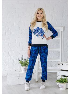 Костюм женский LFC. Цвет: темно-синий, белый