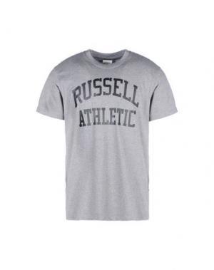 Футболка RUSSELL ATHLETIC. Цвет: серый