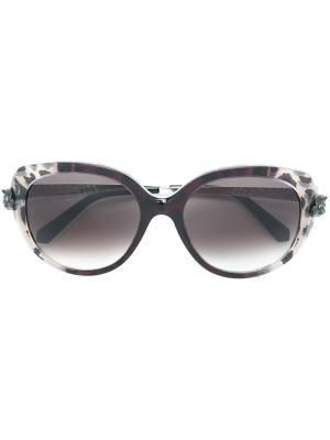 Солнцезащитные очки Panthère Wild Cartier. Цвет: чёрный