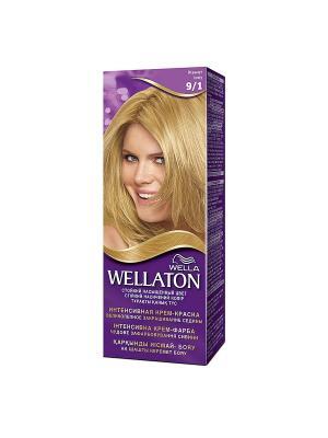 Крем-краска для волос стойкая 9/1 Жемчуг WELLATON. Цвет: фиолетовый