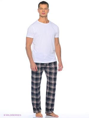 Домашние брюки YC COTTON. Цвет: красный, антрацитовый