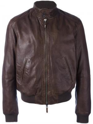 Куртка на молнии Damico D'amico. Цвет: коричневый