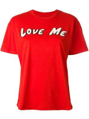 Футболка Love Me Sandrine Rose. Цвет: красный