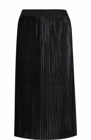 Однотонная плиссированная юбка-миди By Malene Birger. Цвет: черный