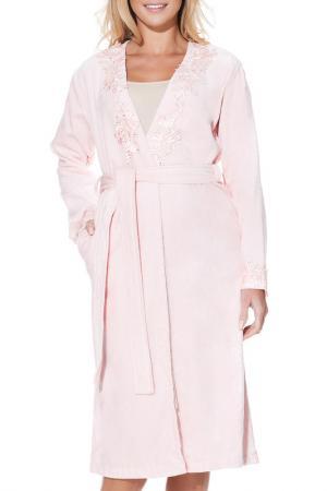 Банный халат Luisa Moretti. Цвет: розовый