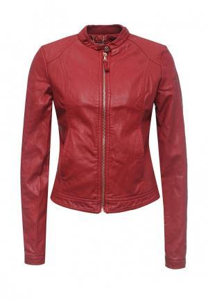 Куртка кожаная Alcott. Цвет: красный