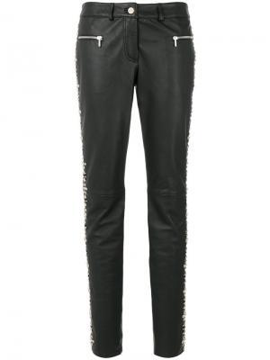 Декорированные брюки скинни Michel Klein. Цвет: чёрный
