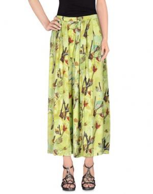 Длинная юбка ANONYME DESIGNERS. Цвет: кислотно-зеленый