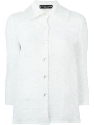 Пиджак с вышивкой Jean Louis Scherrer Vintage. Цвет: белый
